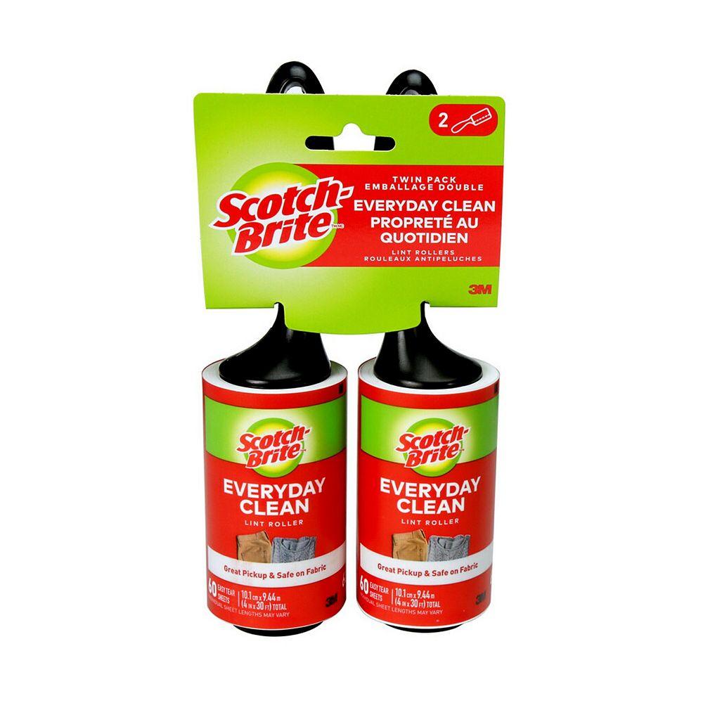 Scotch 60-Sheet Lint Roller (2-Pack)