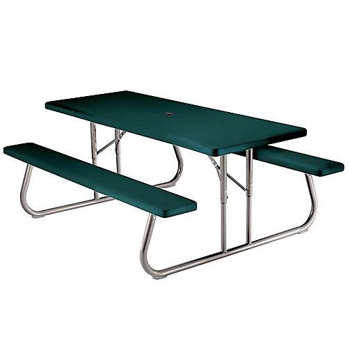 Table de pique-nique pliante 1,83m (6pi) (vert)