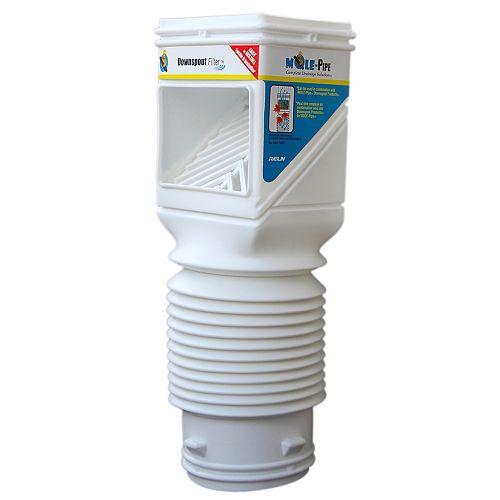 Flex-Grate Downspout Filter (White)