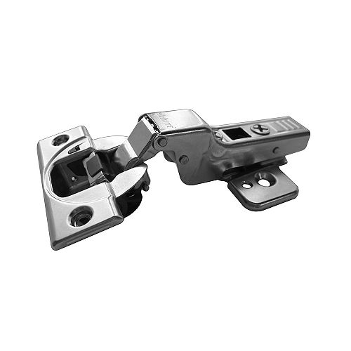 (2-Pack) Soft-Closing 110° CLIP top BLUMOTION Hinge, Half Overlay, Screw-On for frameless cabinets