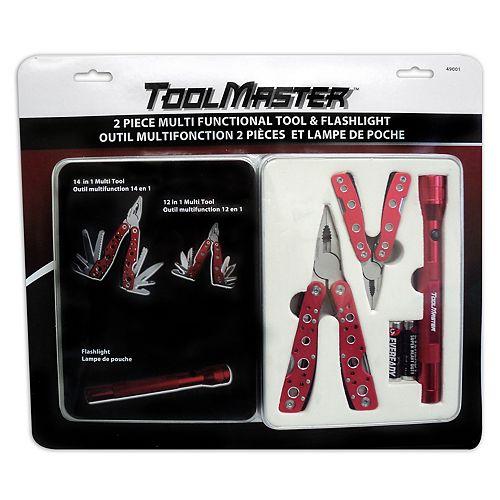 Multi Tool Gift Set with Flashlight