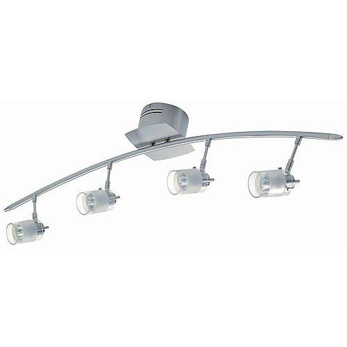 Lampe à quatre ampoules avec abat-jour givré, finition de spécialité