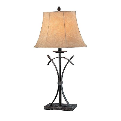 1 Table lumineuse Lampe L'or Terminer Faux Ombre en cuir