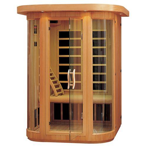 Sauna à pellicule chauffante au carbone à infrarouge - deux personnes