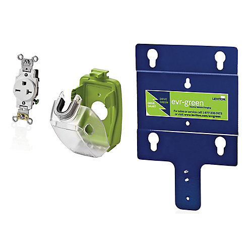 Evr-Green Pre-Wire Installation Kit for Level 2 Electric Car Charging Station