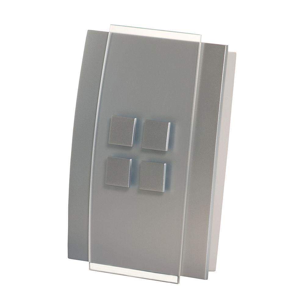 Honeywell Décor Wireless Chime & Push - Silver