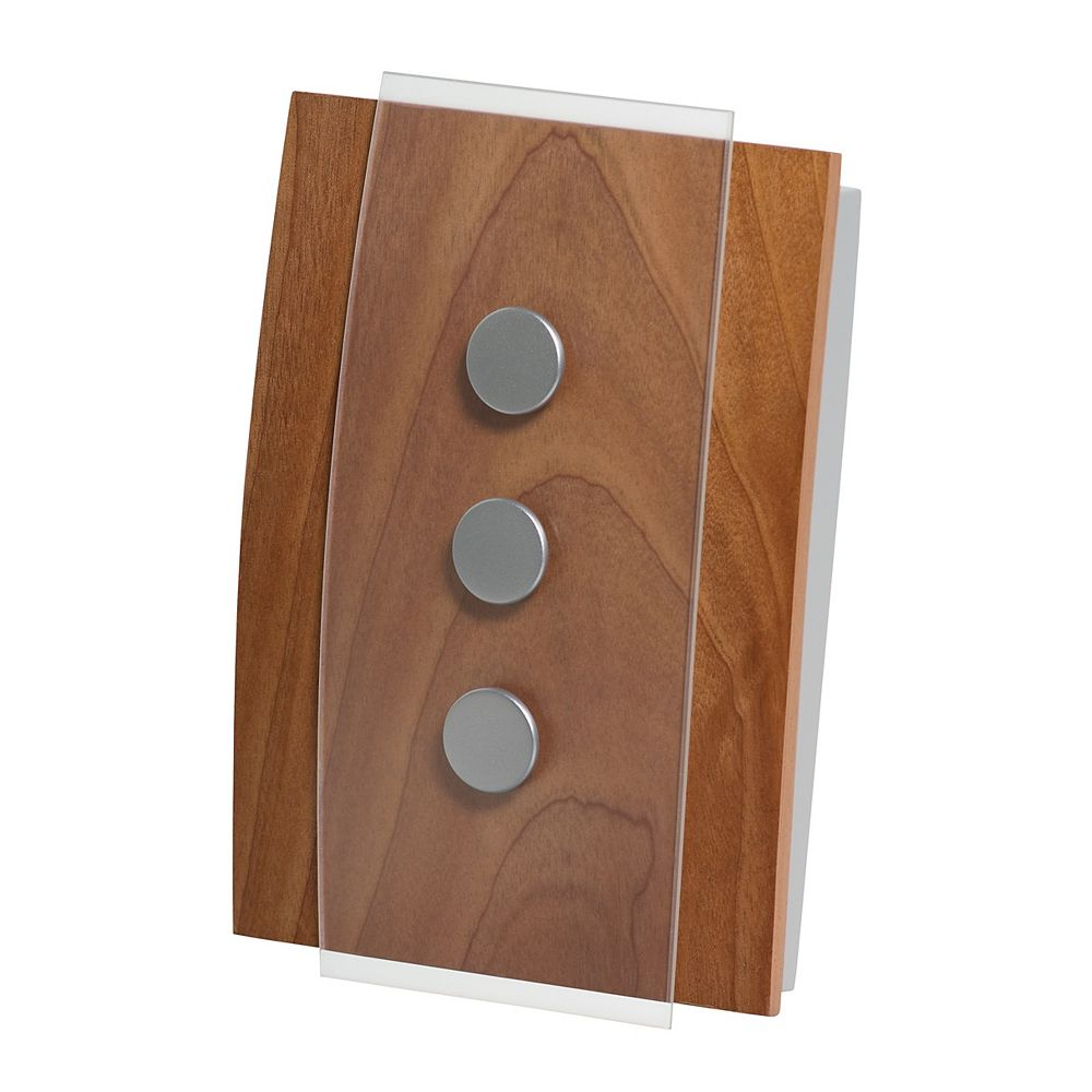 Honeywell Décor Wireless Chime & Push - Wood w Glass Accents