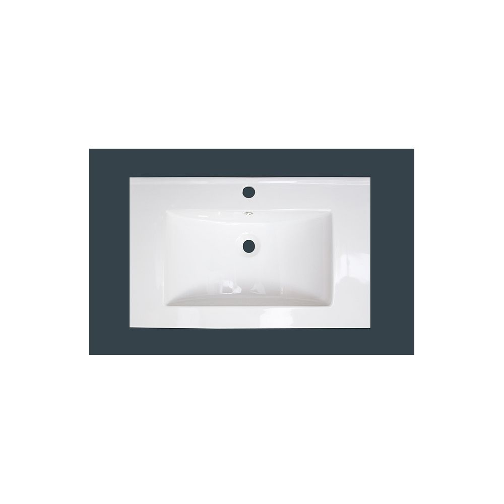 American Imaginations 24-inch x 18-inch Ceramic Top with Single Hole in White