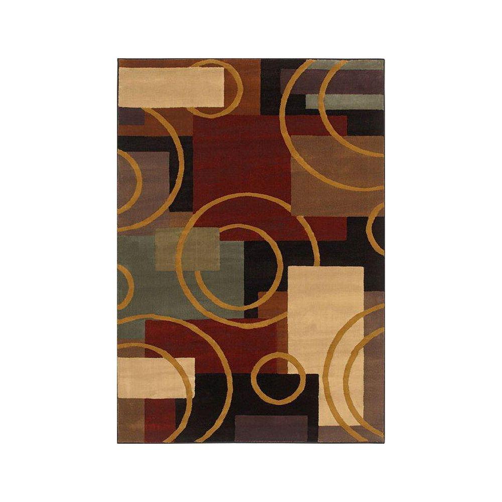 Shaw Living Carpette, 5 pi 5 po x 7 pi 8 po, rectangulaire, multicolore Contempo