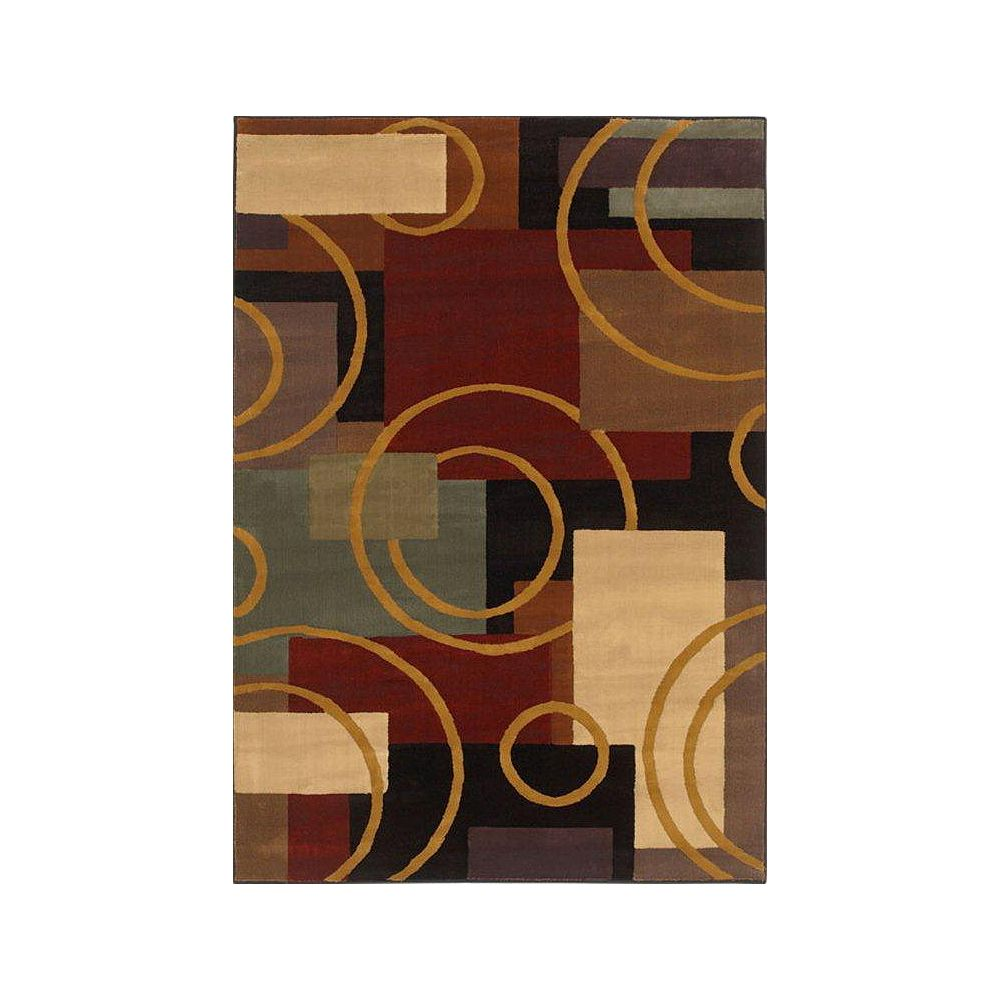 Shaw Living Contempo Multi-Colour 3 ft. 10-inch x 5 ft. 6-inch Rectangular Area Rug
