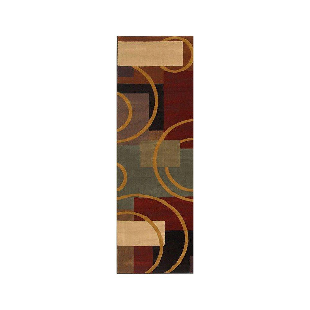 Shaw Living Tapis de passage, 2 pi 6 po x 7 pi 8 po, multicolore Contempo