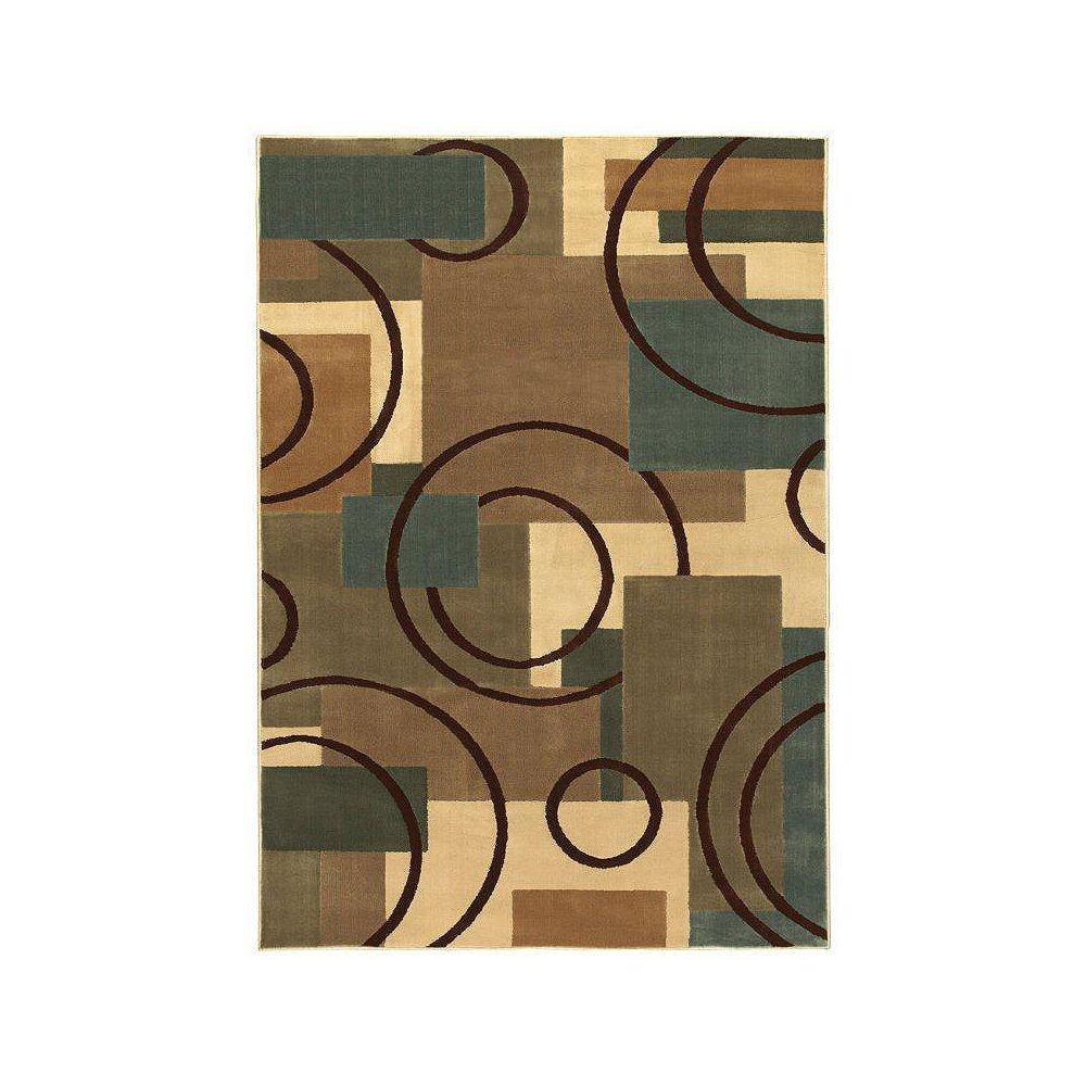 Shaw Living Carpette, 9 pi 3 po x 13 pi, rectangulaire, multicolore Contempo