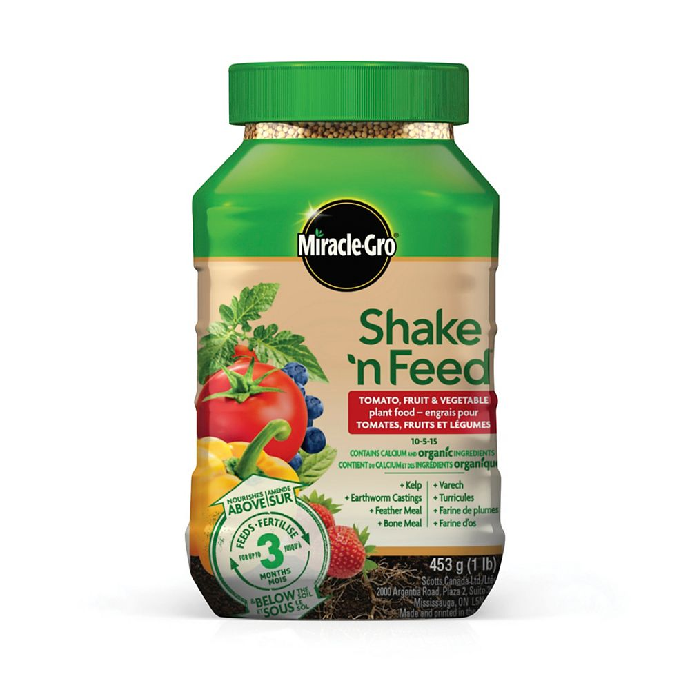 Miracle-Gro Shake N Feed Tomato, Fruits & Vegetables Plant Food 10-5-15 453g