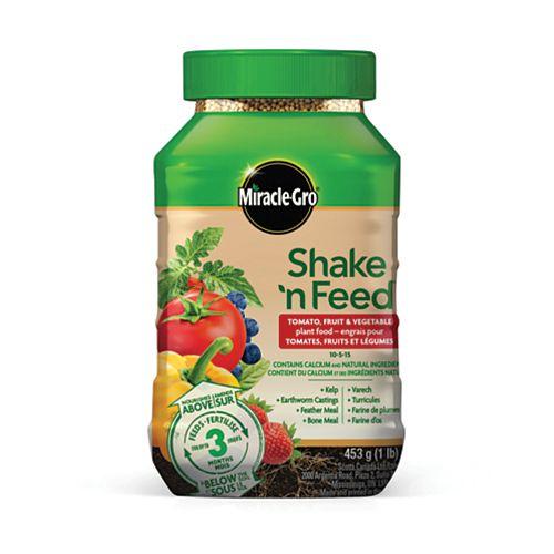 Shake N Feed engrais pour tomates, fruits et legumes 10-5-15 453g