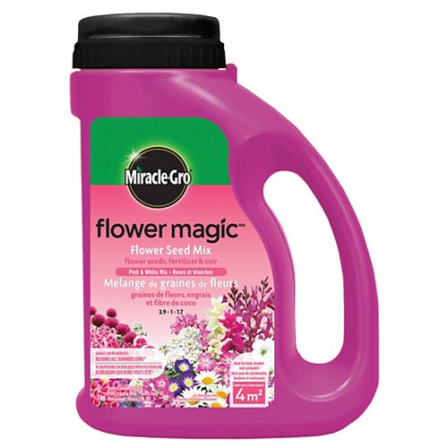 Miracle-Gro Flower Magic  Fleurs roses et blanches 1 kg