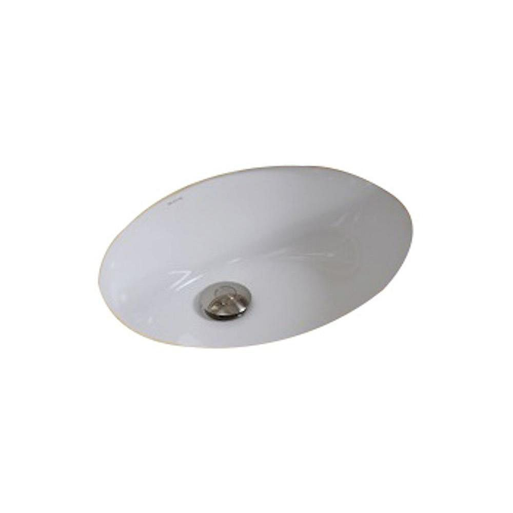 American Imaginations 19 1/2-inch W x 16-inch D Oval Undermount Sink in White