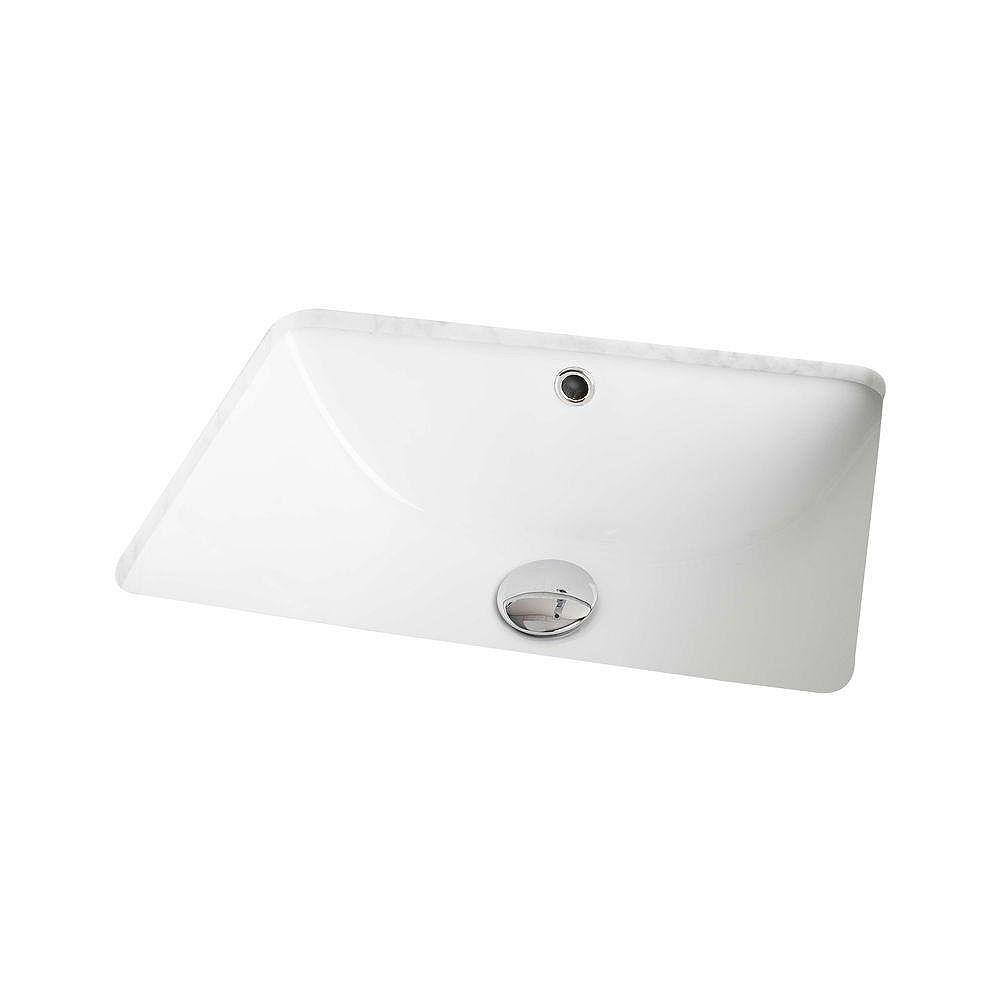 American Imaginations 18 1/4-inch W x 13 1/2-inch D Rectangular Undermount Sink in White