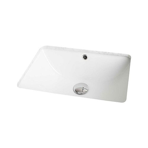 18 1/4-inch W x 13 1/2-inch D Rectangular Undermount Sink in White