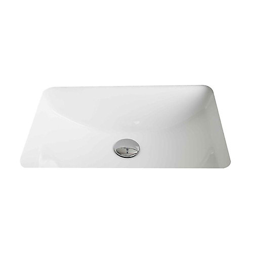 20 3/4-inch W x 14 7/20-inch D Rectangular Undermount Sink in White