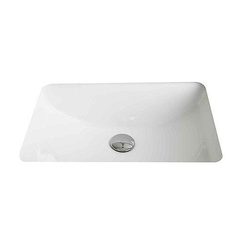 20 3/4-inch W x 14 7/20-inch D Rectangular Undermount Sink in White