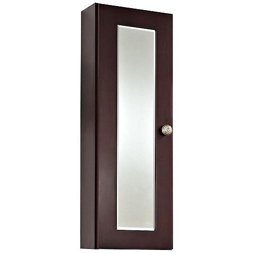 American Imaginations 12 Inch x 36 Inch Cherry Wood Reversible Door Medicine Cabinet in Coffee Finish