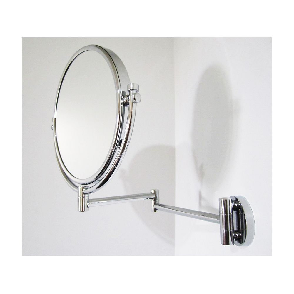 American Imaginations 8 Inch x 8 Inch Chrome Wall Mount Magnifying Makeup Mirror