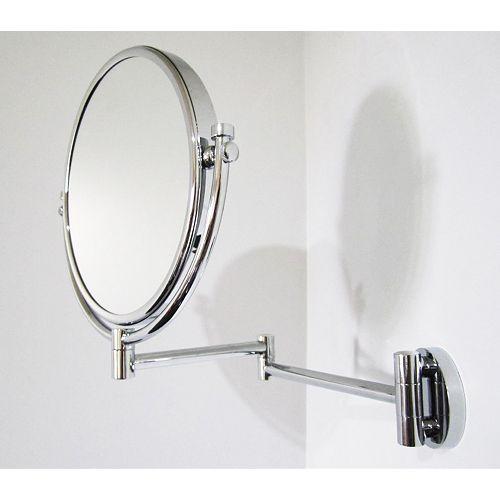 8 po x 8 po Miroir de maquillage avec grossissement et une finition chromée