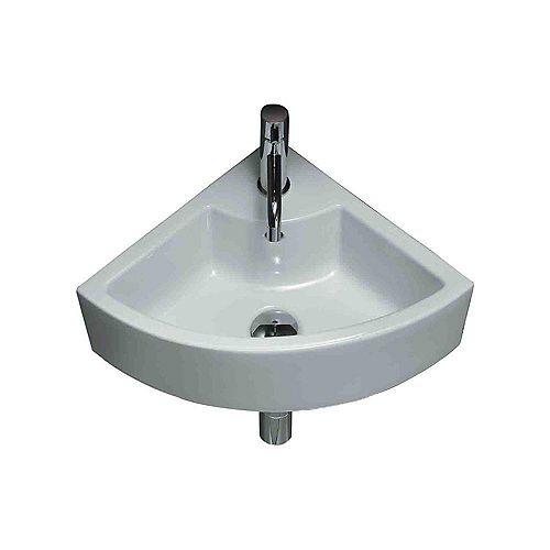 Ceramic Corner Vessel Sink White