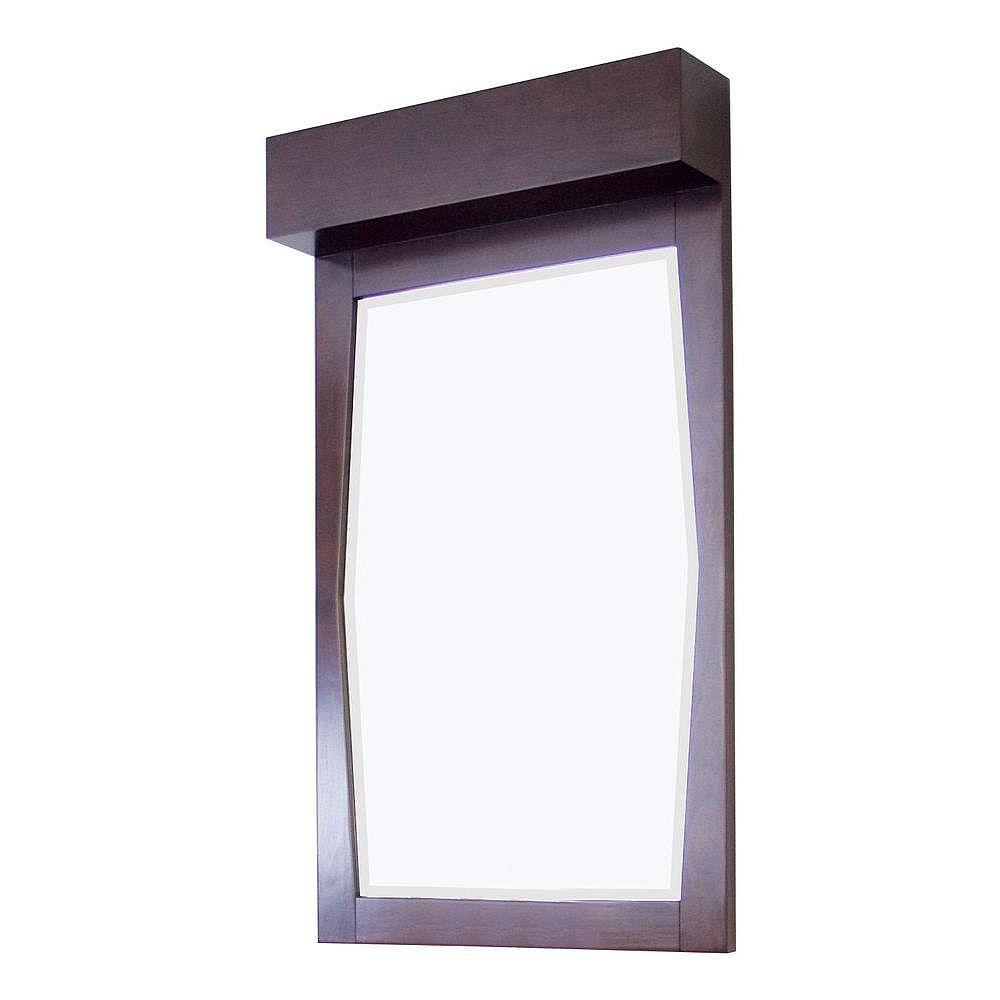 American Imaginations 24 po x 32 po Miroir encadré de bois, rectangulaire, avec finition noyer
