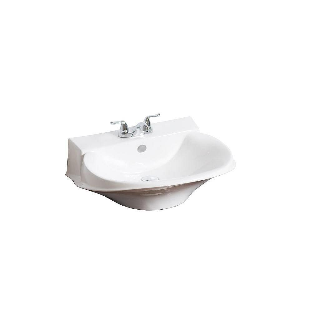 American Imaginations Victorian Style Ceramic Vessel Sink in White