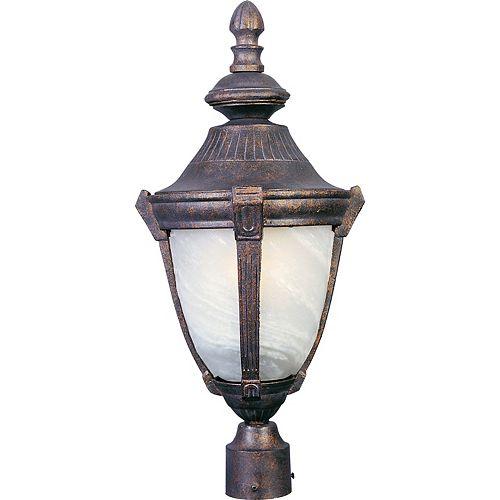 1 Lumière Extérieur Pôle/Après montage  Mont Empire Bronze Terminer  Marbre Verre
