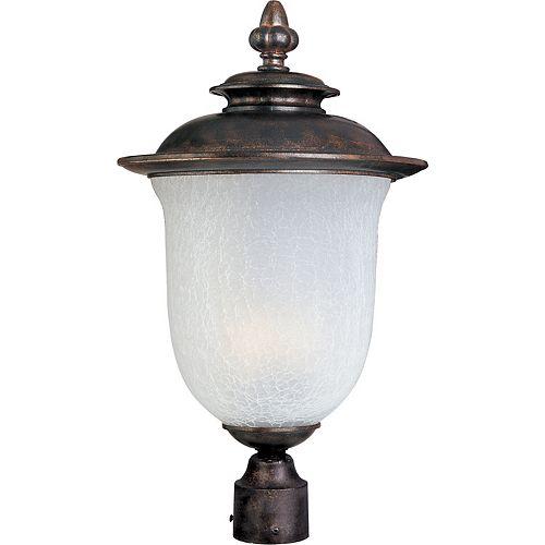 1 Lumière Extérieur Pôle/Après montage  Mont Brown terminer  Frost Crackle Verre