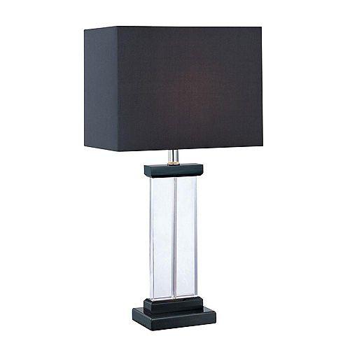 1 Table lumineuse Lampe Finition noire Tissu Noir