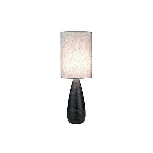 Lampe à une ampoule avec abat-jour de spécialité, Fini bronze