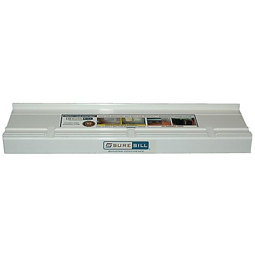4-1/8-inch x 80-inch PVC Sloped Sill Pans for Door and Window Installation and Flashing in White (10-Pack)