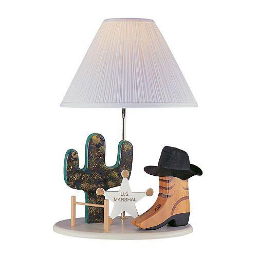 Lampe Illumine à une ampoule avec abat-jour blanc, finition de spécialité