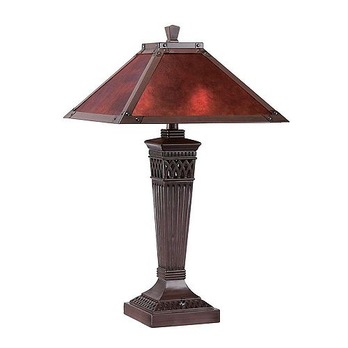 2 Table lumineuse Lampe Bronze Terminer Mica Ombre
