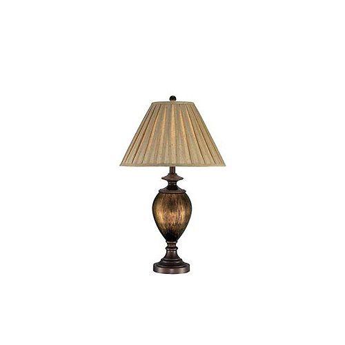 Lampe Illumine à une ampoule avec abat-jour de spécialité, Fini bronze