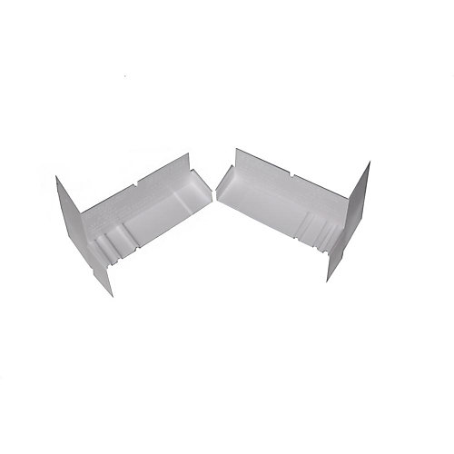 6 9/16-inch Sloped Sill Pan End Caps in White (20-Pack)