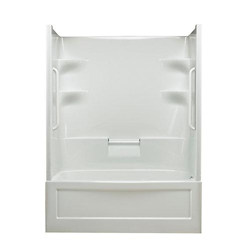 Belaire 60-inch x 78-inch x 32.5-inch 4-shelf Acrylic 1-Piece Right Hand Drain Tub & Shower