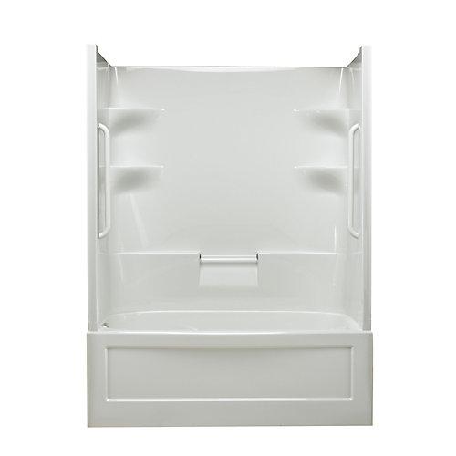 Belaire 60-inch x 78-inch x 32.5-inch 4-shelf Acrylic 1-Piece Left Hand Drain Tub & Shower