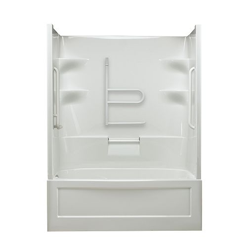 Mirolin Belaire 60-inch x 78-inch x 32.5-inch 4-shelf Acrylic 1-Piece Left Hand Drain Tub & Shower