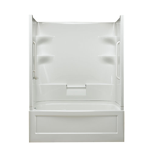 Belaire 60-inch x 78-inch x 32.5-inch 4-shelf Acrylic Left Hand Drain Tub & Shower