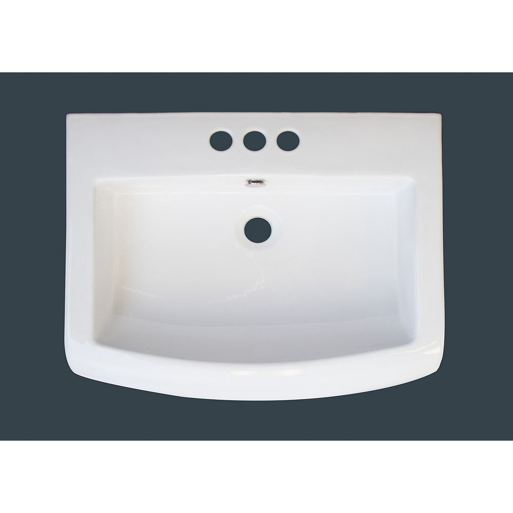 American Imaginations 23-inch W x 18-inch D Ceramic Top with 4-inch Centres in White