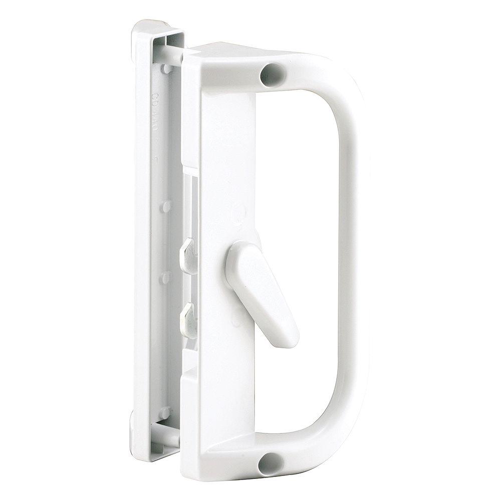 Prime-Line Sliding Door Handle, Diecast, White