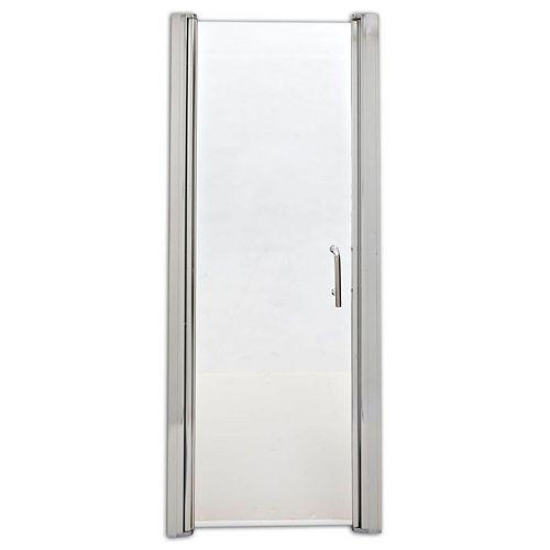 SD34PS 34.5-inch W x 69-inch H Frameless Rectangular Pivot/Hinged Shower Door in White