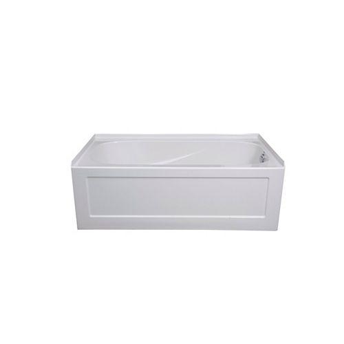 Tuscon 2 Acrylic Soaker Bathtub, Right Hand
