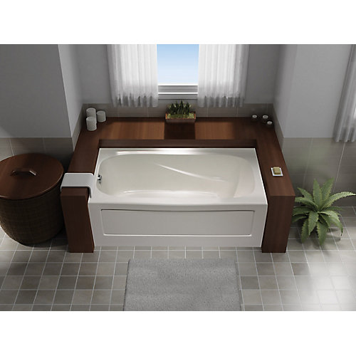 Tuscon 3 Acrylic Soaker Bathtub Left Hand in White