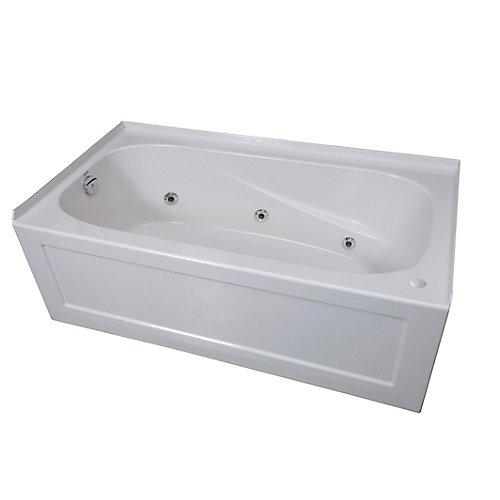 Tuscon 3 Acrylic Rectangular Whirlpool Bathtub Right Hand in White