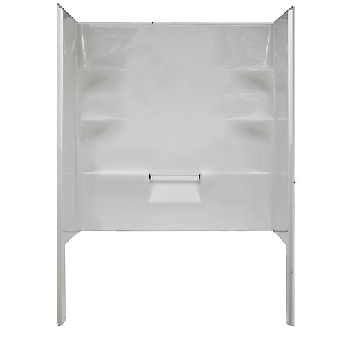 Ellis 60 Acrylic Shower Walls. Includes One Back And Two Side Acrylic Walls.